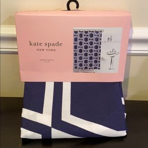 Kate Spade Bow Tile Shower Curtain